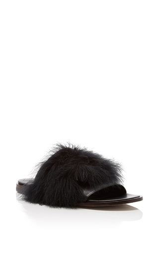 Medium tibi black jack feathered sandals
