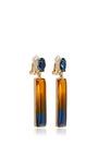 Two Tone Resin Earrings by OSCAR DE LA RENTA Now Available on Moda Operandi
