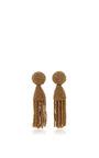 Short Beaded Tassel Earrings by OSCAR DE LA RENTA Now Available on Moda Operandi