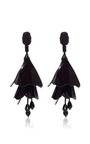 Impatiens Flower Drop Earrings by OSCAR DE LA RENTA Now Available on Moda Operandi