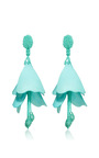 Impatiens Flower Drop Earrings by OSCAR DE LA RENTA Now Available on Moda Operandi
