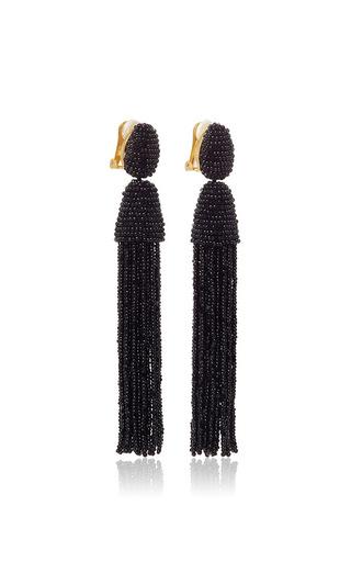 Long Beaded Tassel Earrings by OSCAR DE LA RENTA Now Available on Moda Operandi