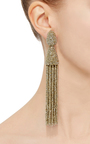 Long Beaded Tassel Earrings by OSCAR DE LA RENTA Now Available on Moda Operandi