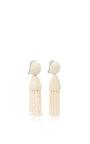 Short Champagne Tassel Earrings by OSCAR DE LA RENTA Now Available on Moda Operandi