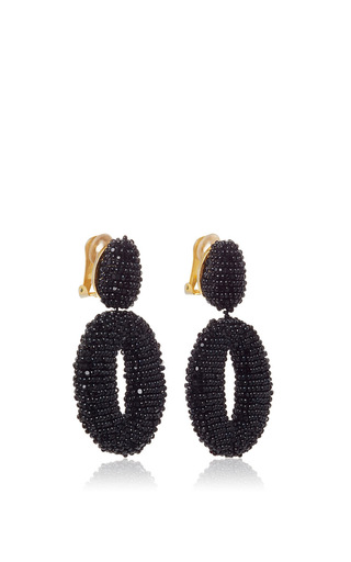 Classic Oscar O Earrings by OSCAR DE LA RENTA Now Available on Moda Operandi