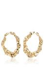 Flounced Hoop Earrings by OSCAR DE LA RENTA Now Available on Moda Operandi