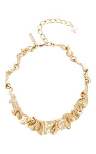 Medium oscar de la renta gold flounced necklace