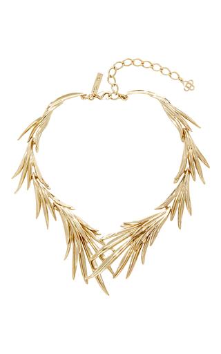 Medium oscar de la renta gold palm leaf necklace