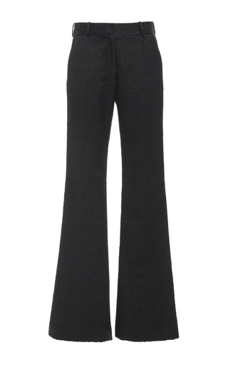 Medium prabal gurung black novelty jacquard molded seam pant