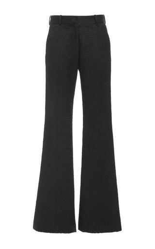 Medium prabal gurung black novelty jacquard molded seam pant