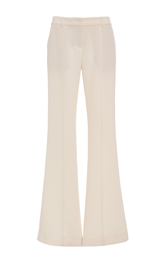 Medium prabal gurung ivory wool suiting molded seam pant