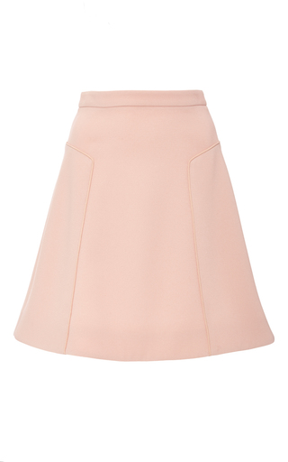 Medium prabal gurung pink seamed crepe flared skirt
