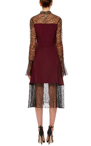 Embroidered Lace Combo Dress by PRABAL GURUNG Now Available on Moda Operandi