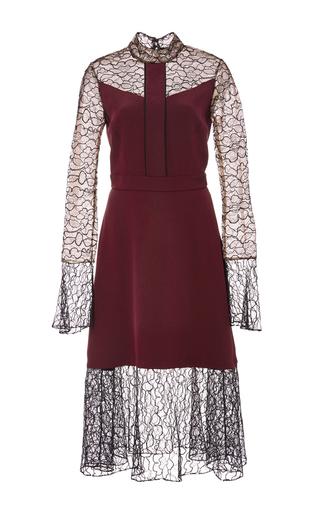 Medium prabal gurung burgundy embroidered lace combo dress