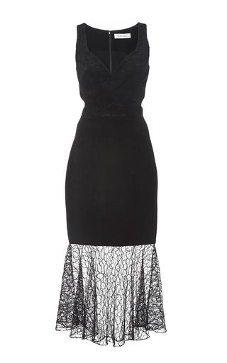 Medium prabal gurung black embroidered lace combo sweetheart sheath dress