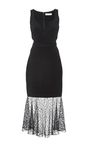 Embroidered Lace Combo Sweetheart Sheath Dress by PRABAL GURUNG Now Available on Moda Operandi