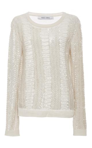 Medium prabal gurung ivory snake embroidered sweater