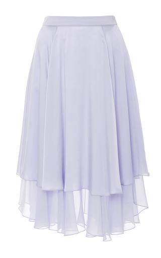 Medium prabal gurung blue silk chiffon circle skirt