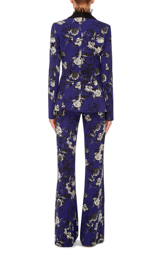 Floral Printed Tuxedo Jacket by PRABAL GURUNG Now Available on Moda Operandi