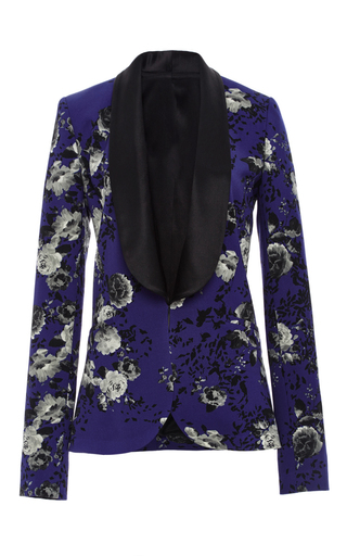 Medium prabal gurung floral floral printed tuxedo jacket