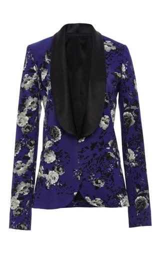 Medium prabal gurung floral floral printed tuxedo jacket