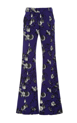 Medium prabal gurung print floral wool molded seam pant