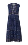 Diamond Eyelet Denim Dress by SEA Now Available on Moda Operandi