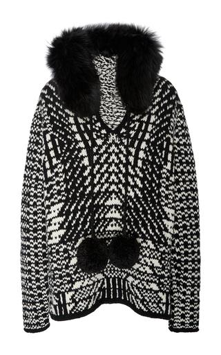 Medium spencer vladimir black white the elon fur hoodie