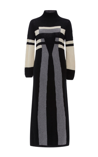 Medium spencer vladimir multi tesla long sleeve sweater dress