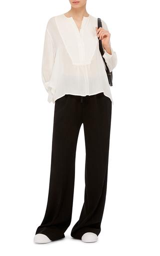 Silk Tuxedo Blouse by NILI LOTAN Now Available on Moda Operandi