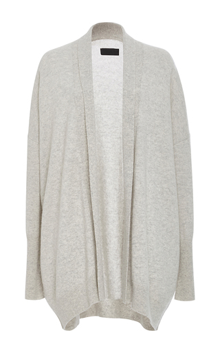 Medium nili lotan light grey open kimono cashmere cardigan