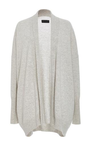Medium nili lotan light grey open kimono cashmere cardigan