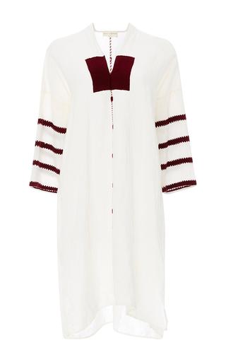 Medium nili lotan white tulum embroidered kaftan