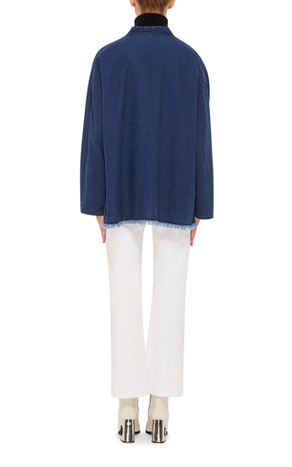 Casablanca Denim Blouse by NILI LOTAN Now Available on Moda Operandi
