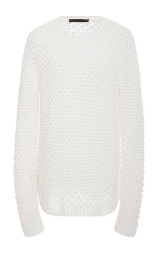 Medium jenni kayne white textured crew neck sweater