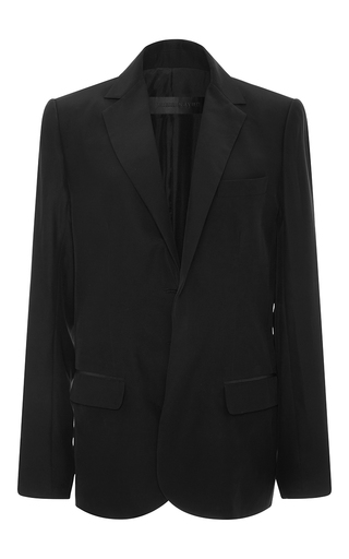 Medium jenni kayne black silk boyfriend blazer