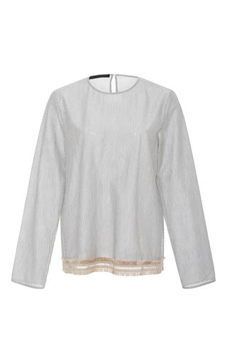 Medium jenni kayne stripe fringed striped shirt