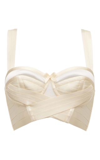 Medium bordelle off white bondage wrap bra in cream