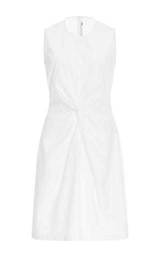 Medium rosetta getty white twist midi dress
