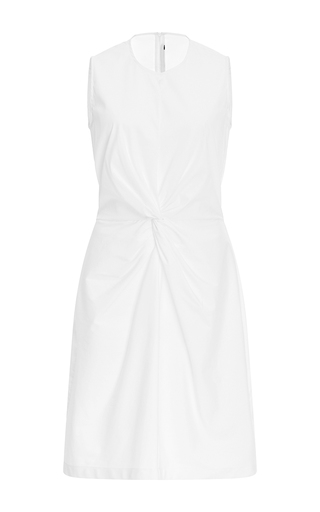 Medium rosetta getty white twist midi dress