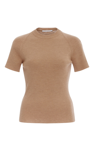 Medium rosetta getty tan merino wool t shirt