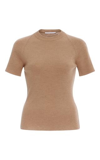 Medium rosetta getty tan merino wool t shirt