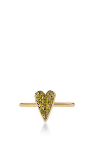 Medium elena votsi gold eros ring with yellow diamonds
