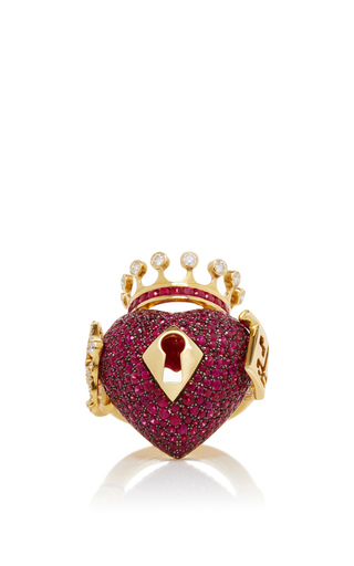 Medium lydia courteille red surrealist collection red sapphire ring