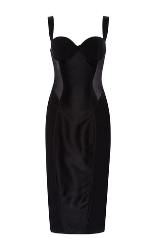 Medium kiki de montparnasse black expose slip dress