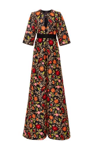 Medium naeem khan black floral paisley embroidered evening coat