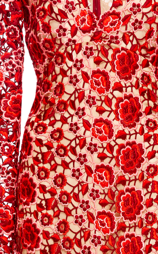 Floral Lace Gown by NAEEM KHAN Now Available on Moda Operandi