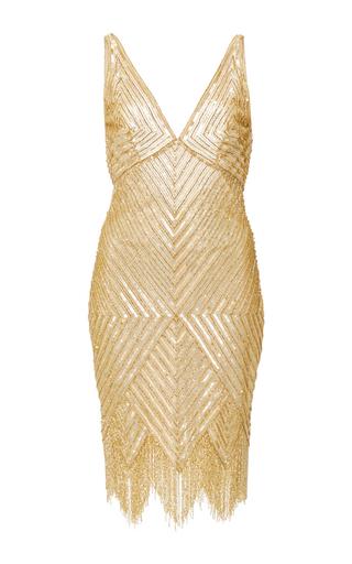 Diamond Fringed Cocktail Dress by NAEEM KHAN Now Available on Moda Operandi