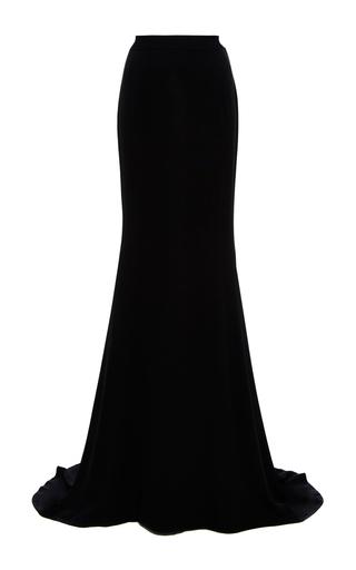 Medium naeem khan black silk georgette trumpet skirt
