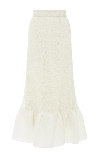 Medium houghton off white crochet lace jules ruffled skirt